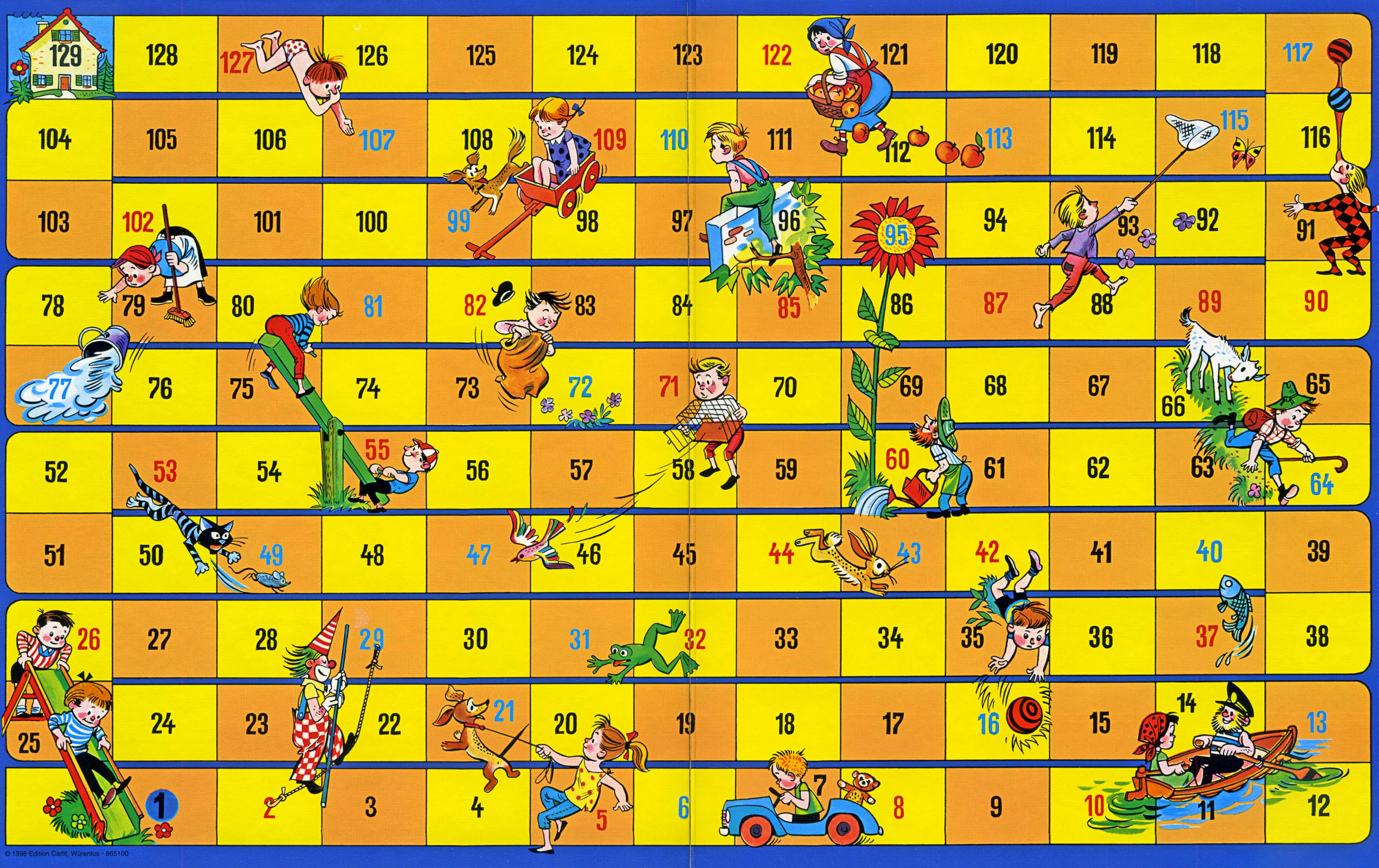 Leiterli-Spiel - Jeu des échelles - Snakes and Ladders