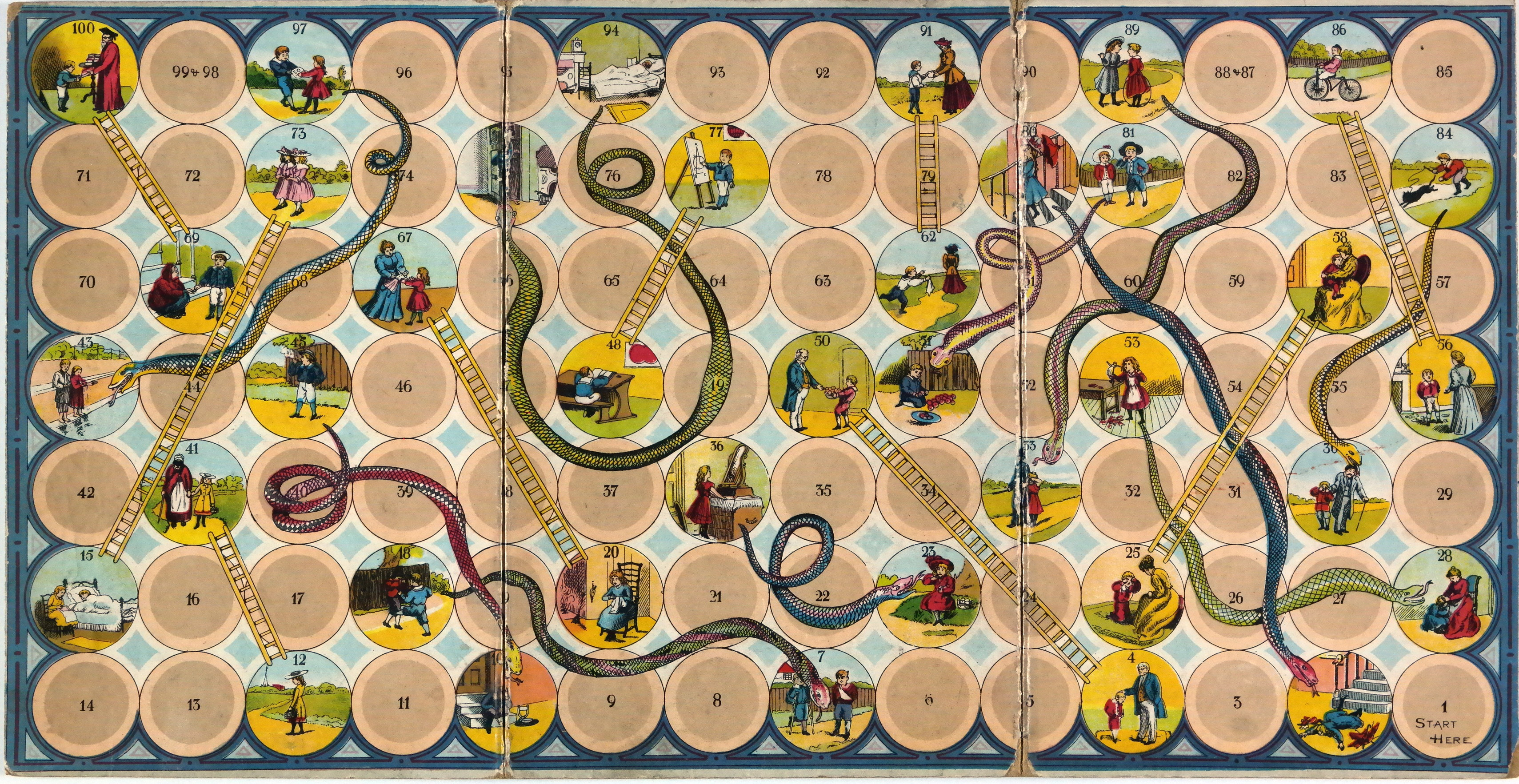 Chutes And Ladders Board Template To snakes and ladders
